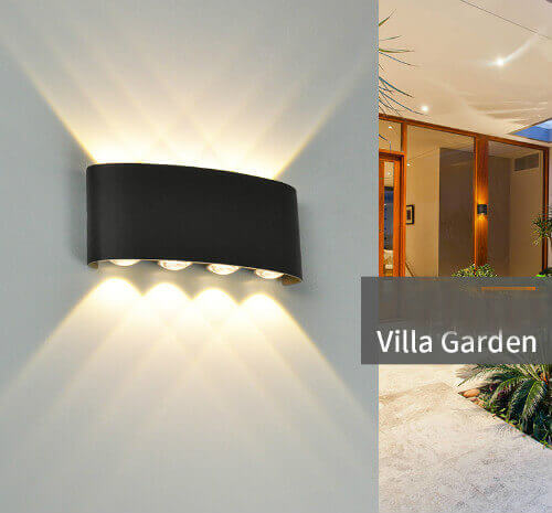 4+4W LED Wall Light